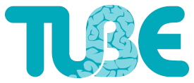 Tube logo in turquoise letters