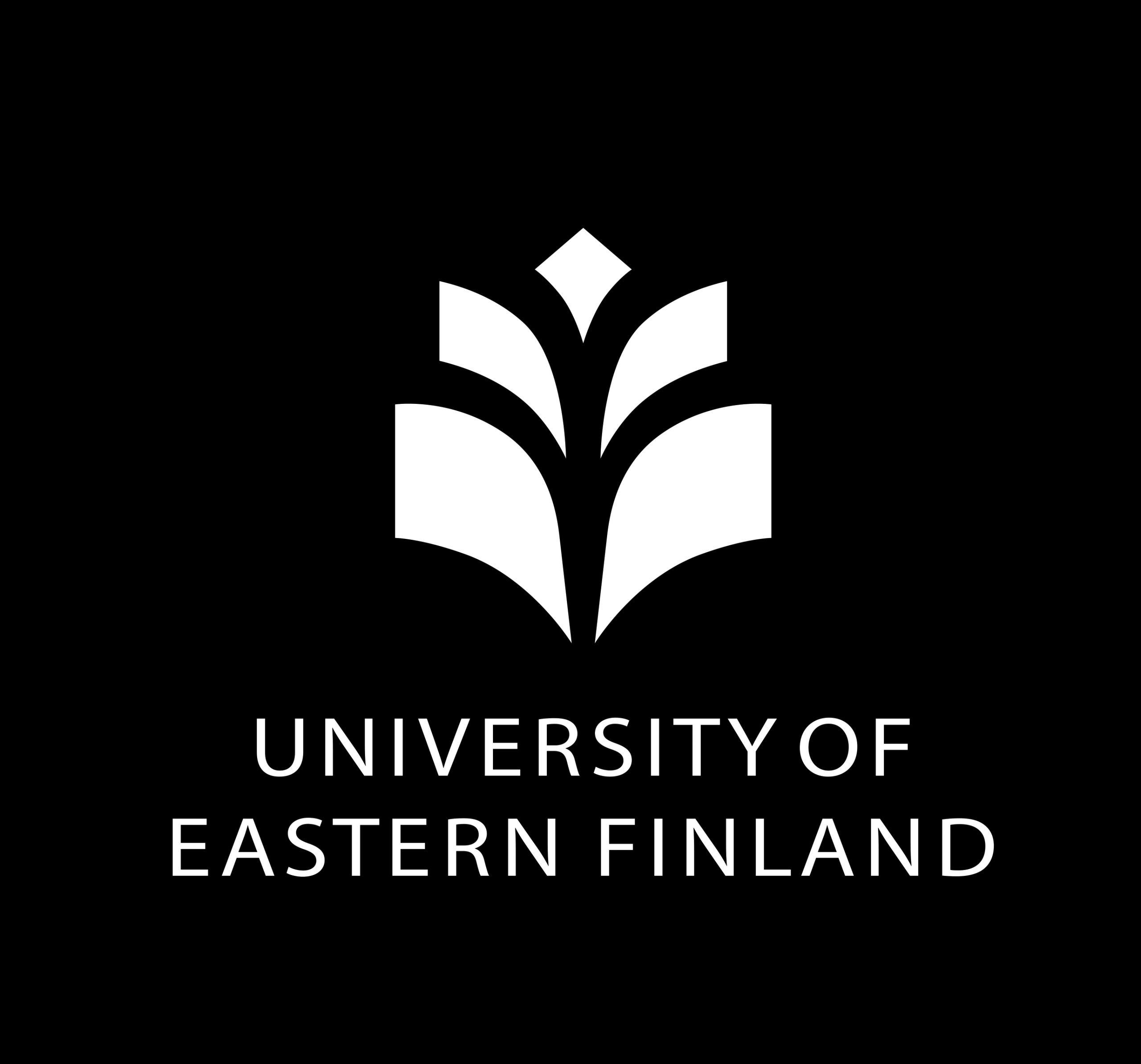 University of Eastern Finland logo on black background